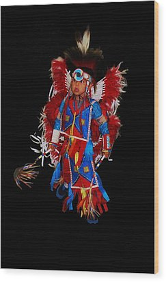 Native American Dancer Wood Print
