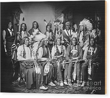 Native American Delegation, 1877 Wood Print by Granger