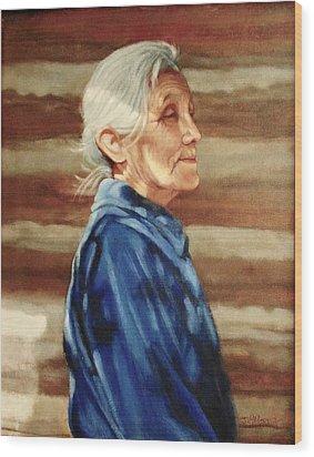 Native American Wood Print by Janet McGrath