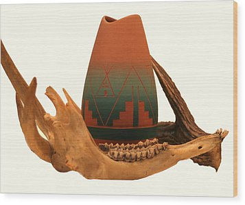 Wood Print featuring the photograph Native American Still Life by Diane Merkle