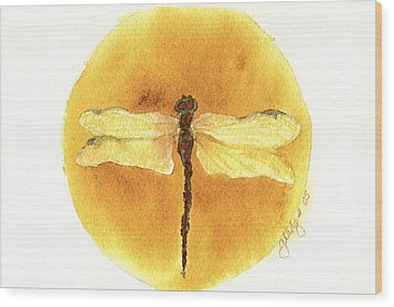 Native Dragonfly Wood Print by Gladys Folkers