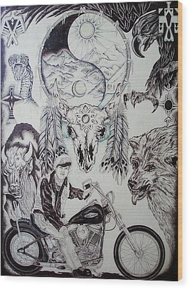 Native Ride Wood Print