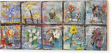 native Texas wildflowers A Wood Print by Michael Dillon