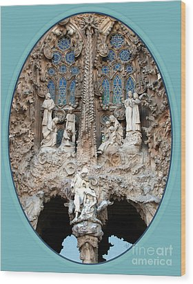 Wood Print featuring the photograph Nativity Barcelona by Victoria Harrington