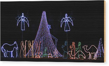 Nativity Scene Wood Print