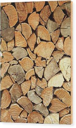 Natural Wood Wood Print by AugenWerk Susann Serfezi