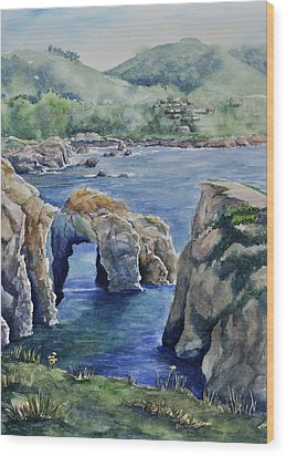 Natural Arch - Carmel Wood Print by Sandy Fisher