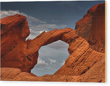 Natural Arch - Valley Of Fire - Nevada Wood Print by Christine Till