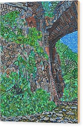 Natural Bridge Wood Print by Micah Mullen
