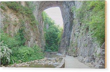 Natural Bridge Virginia Wood Print