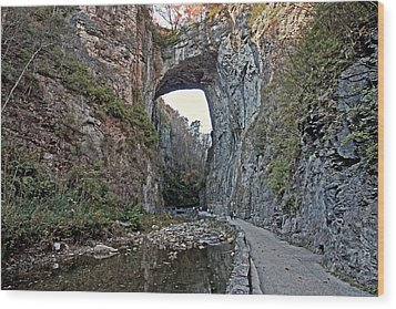 Wood Print featuring the photograph Natural Bridge Virginia by Suzanne Stout