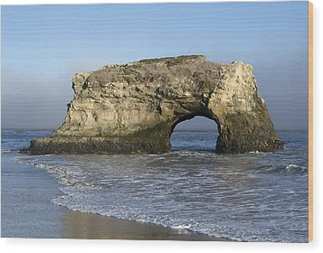 Natural Bridges State Park - Santa Cruz - California Wood Print by Brendan Reals