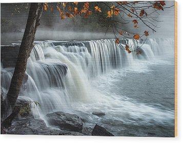 Natural Dam Falls Wood Print