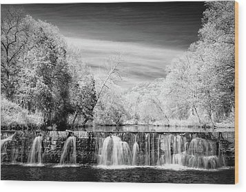 Wood Print featuring the photograph Natural Dam Film Noir by James Barber