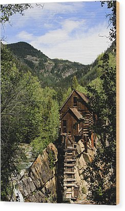 Natural Frame Around The Crystal Mill Wood Print