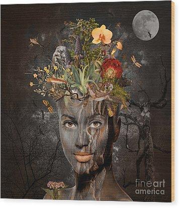 Naturalist Wood Print by Nola Lee Kelsey