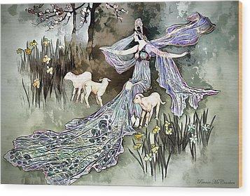 Wood Print featuring the digital art Nature Goddess by Pennie McCracken