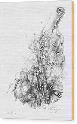 Nature Inspiration Wood Print by Olena Kulyk