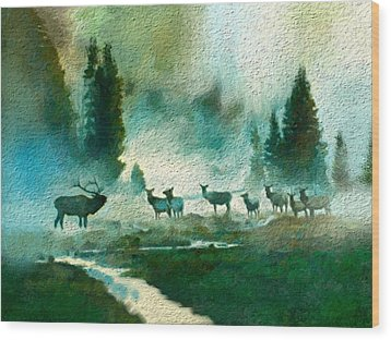 Nature Scene Wood Print by Anthony Fishburne