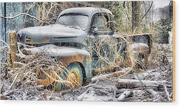 Nature Takes Back Wood Print