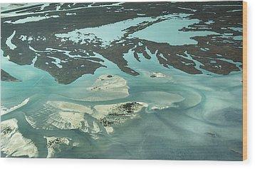 Natures Art On Barnegat Bay Wood Print