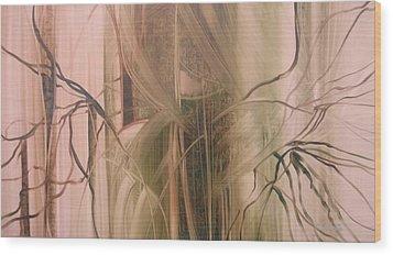 Nature's Cry Wood Print by Fatima Stamato