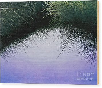 Wood Print featuring the painting Nature's Eyelashes by Cindy Lee Longhini