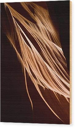 Natures Lines Wood Print by Adam Romanowicz