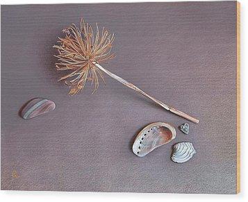 Nature's Memories Wood Print by Elena Kolotusha