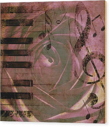 Natures Music Wood Print by Cathie Tyler