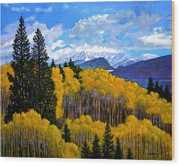 Natures Patterns - Rocky Mountains Wood Print