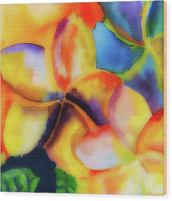 Wood Print featuring the painting Nature's Pinwheels by Stephen Anderson