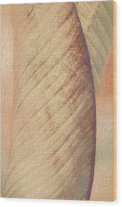 Wood Print featuring the photograph Nature's Plant Leaf Abstract by Julie Palencia