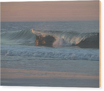 Wood Print featuring the photograph Natures Wave by  Newwwman