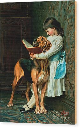 Naughty Boy Or Compulsory Education Wood Print by Briton Riviere