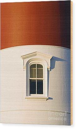Nauset Light Detail Wood Print by John Greim
