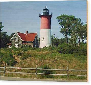 Wood Print featuring the photograph Nauset Lighthouse by Frederic Kohli