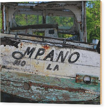 Wood Print featuring the photograph Nautical Miles by Lori Mellen-Pagliaro