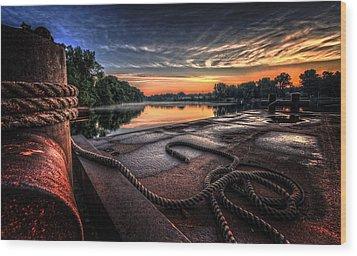 Nautical Sunrise Wood Print by Everet Regal