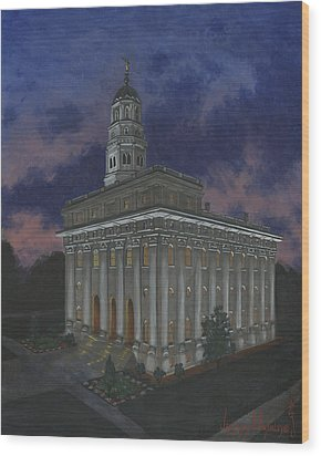 Nauvoo Sunset Wood Print by Jeff Brimley