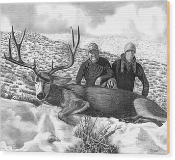 Navada Hunt 2015 Wood Print by Peter Piatt