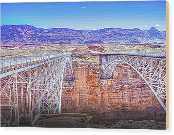 Navajo Bridge Wood Print by Mark Dunton