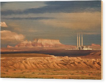 Wood Print featuring the photograph Navajo Generating Station by Lana Trussell