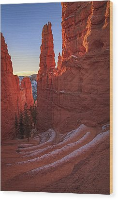 Navajo Loop Wood Print by Edgars Erglis