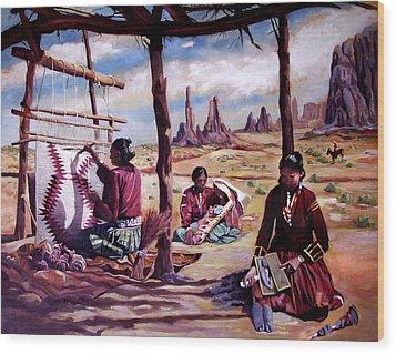 Navajo Weavers Wood Print by Nancy Griswold