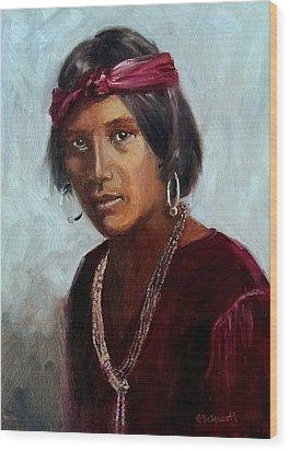 Navajo Youth Wood Print