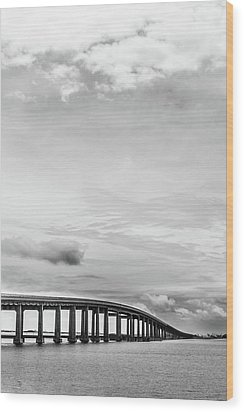Wood Print featuring the photograph Navarre Bridge Monochrome by Shelby Young