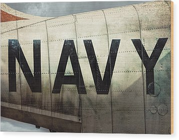 Wood Print featuring the photograph Navy - Kaman K-16b Experimental Aircraft by Gary Heller