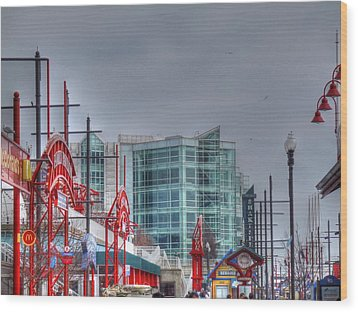 Navy Pier Wood Print by Barry R Jones Jr