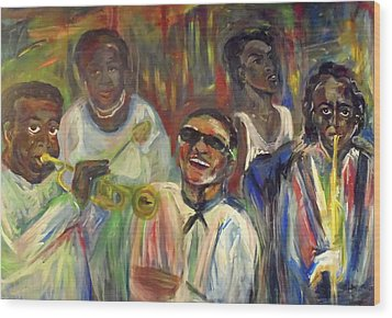 Nawlins Jazz Wood Print by Made by Marley